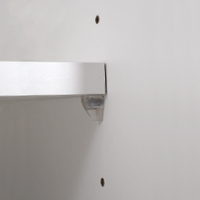 18mm adjustable shelves, edged all round; 3 possible heights