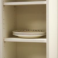 Wall Cabinets are 330mm deep with 18mm void. Internal depth 304mm